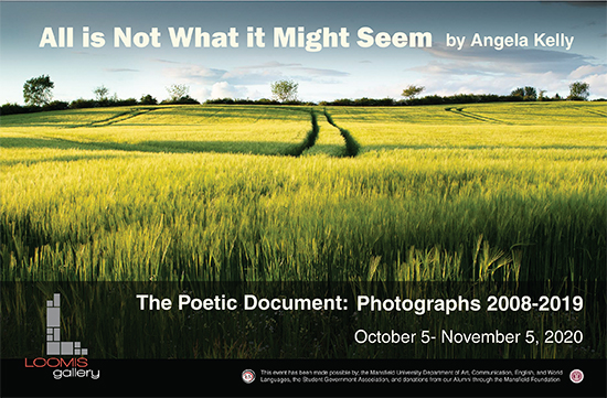 An advertising poster for the Angela Kelly Exhibition