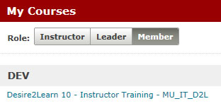My Courses D2L Training