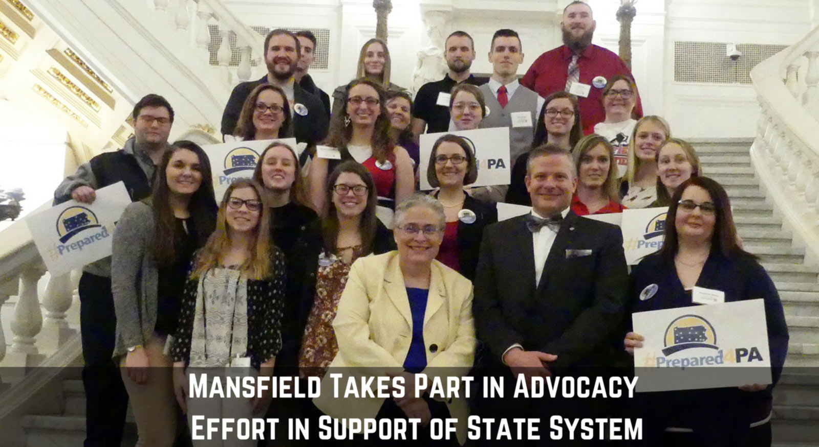 Mansfield Takes Part in Advocacy Effort in Support of State System