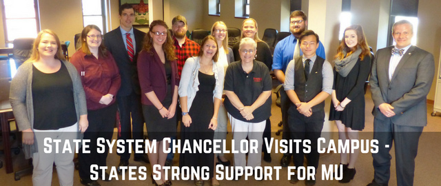 State System Chancellor Visits Campus - States Support for MU