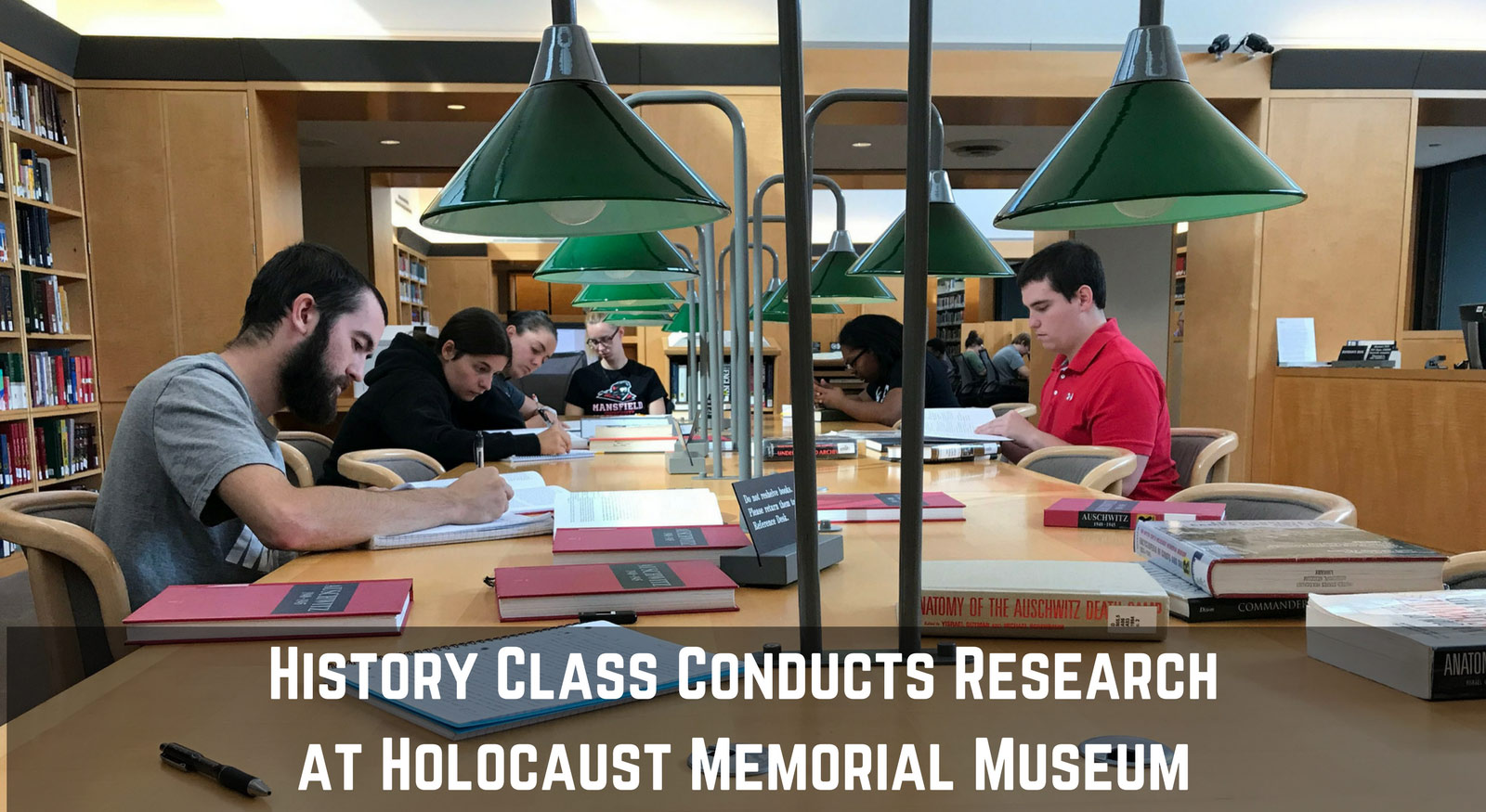 Students study at Holocaust Memorial Museum