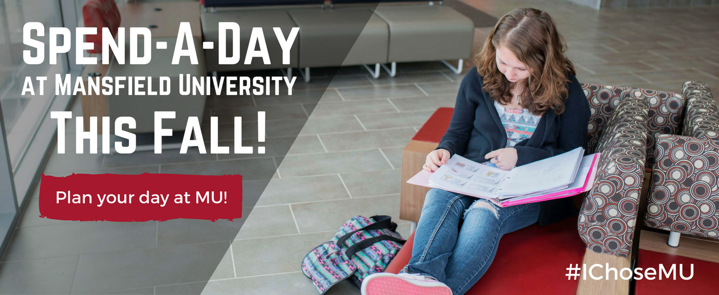 Spend-a-Day at Mansfield University this fall!
