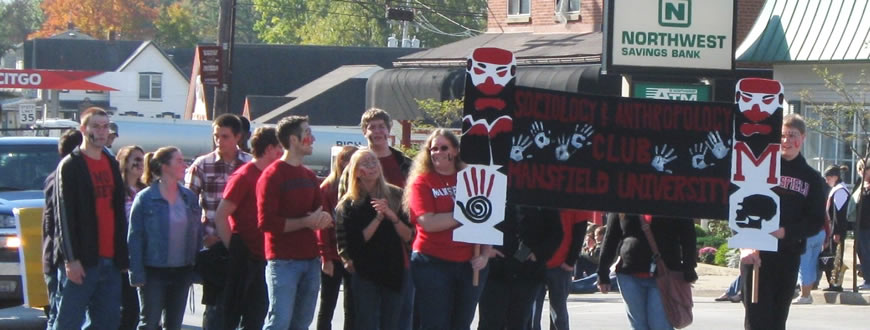 Students in a parade