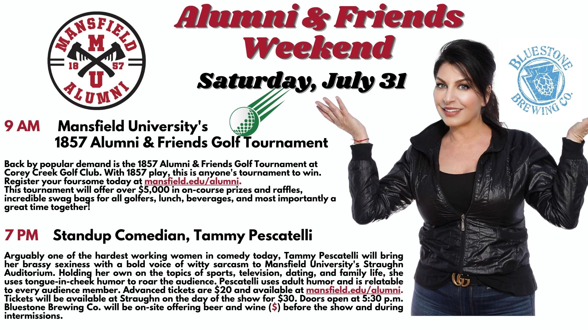 Alumni and Friends Weekend, Saturday July 31th, 2021