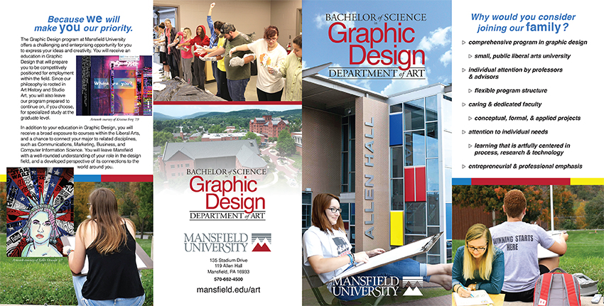 Graphic Design Brochure Front and Back Cover