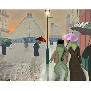 Image of Allyson Rockwell's Rainy Day Stroll, Digital Print