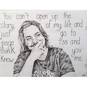 Image of Helen Antanavage's Arin Hanson, Pen and Ink