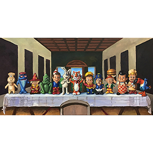 Image of Andrew Wales' Last Supper, Acrylic on Canvas