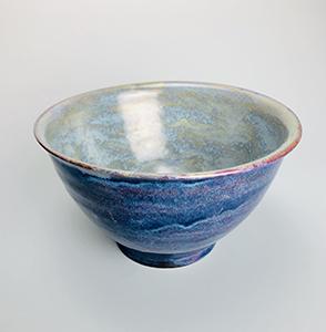 Image of Abigail Cogliano's Blue Bowl, Wheel Thrown Stoneware