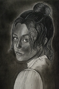 Image of Chloe Costa's The Girl that Stood Out, Charcoal