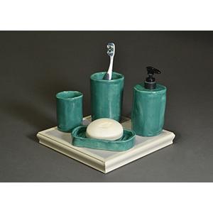 Image of Quinn Rahr's Bathroom Set, Ceramic