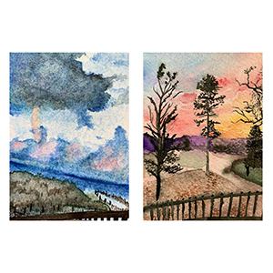 Image of Sydney Pricher' Cool Summers and Warm Winters, Watercolor on Paper