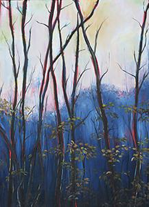 Image of Sarah Batson's Logging Road at Dusk, Oil on Fabric