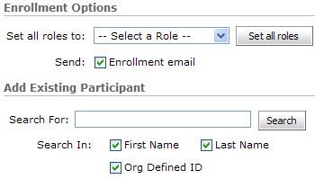 Adding Participant