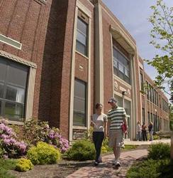 Students walking in front of Retan Center