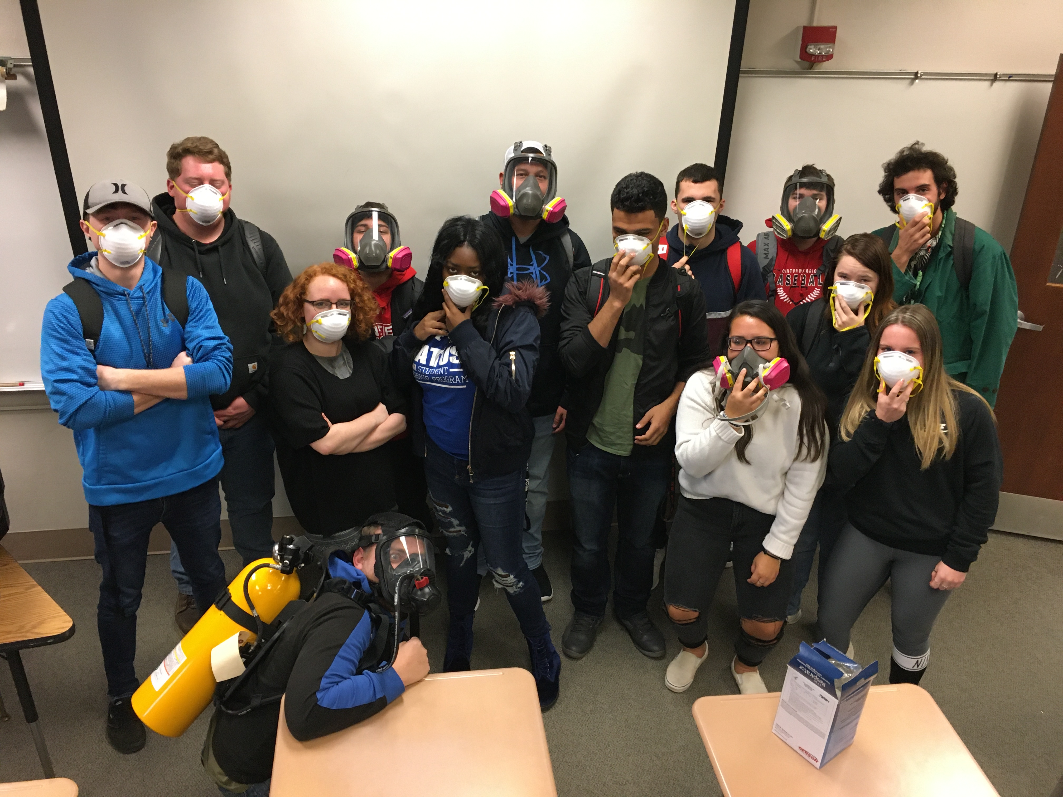 Students in safety masks