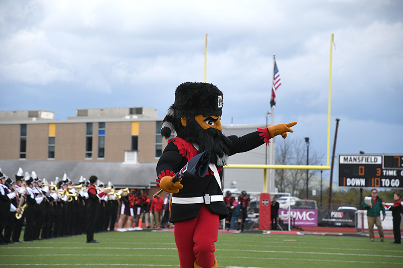 Mansfield University Mountie leading the charge.